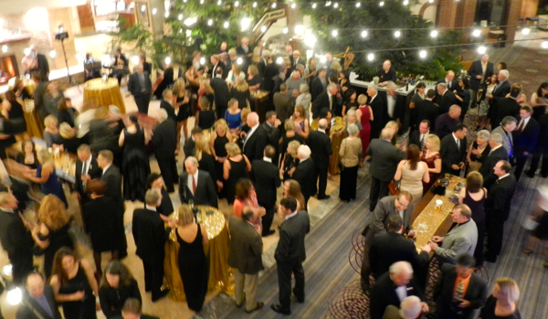 More than 200 people mingle before the festivities to celebrate South Lake Tahoe's 50th birthday begin Nov. 7. Photos/Kathryn Reed
