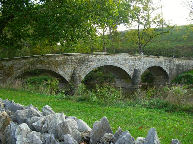 Burnside's Bridge at Antietam National Battlefield in Maryland