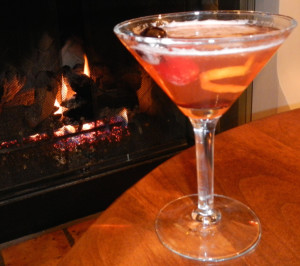 Cocktails and breakfast are served by a fireplace. Photo/Kathryn Reed