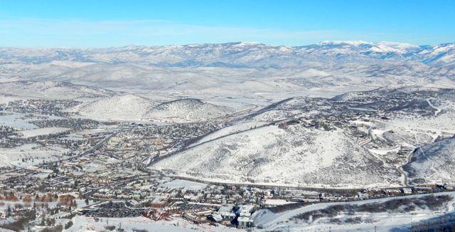 Park City's sprawl is easy to see from the slopes.