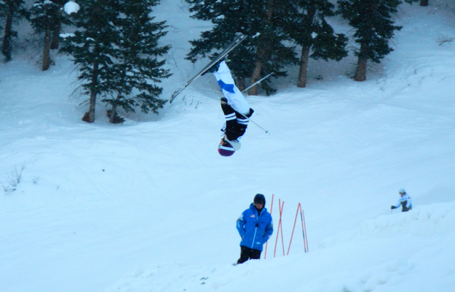 The U.S. Ski Team practices at Deer Valley in advance of this weekend's freestyle competition.