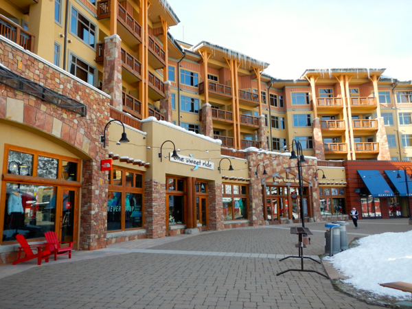 The old Canyons side is much more developed than the Park City base. Photo/Kathryn Reed