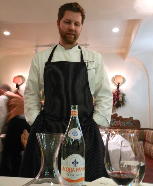 Ryan Burnham, chef at Goldener Hirsch, has no trouble catering to diner's food preferences. Photo/Kathryn Reed