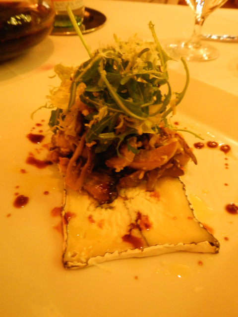 The mushroom salad is the perfect start to dinner at Goldener Hirsch. Photo/Kathryn Reed