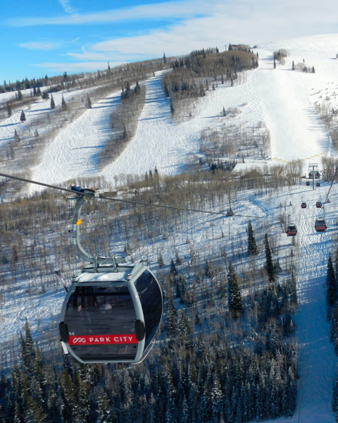 The mid-mountain gondola links Park City to what was Canyons. Photo/Kathryn Reed