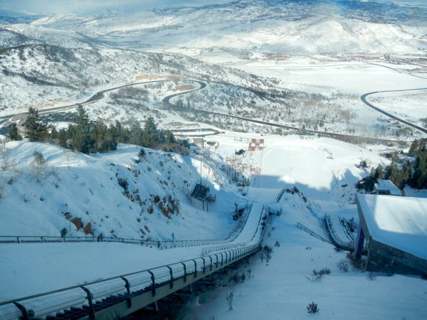 The ski jump has different  starting points based on one's skill level. Photo/Kathryn Reed