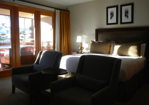 Rooms at the Stein Eriksen are comfortable. Photo/Kathryn Reed