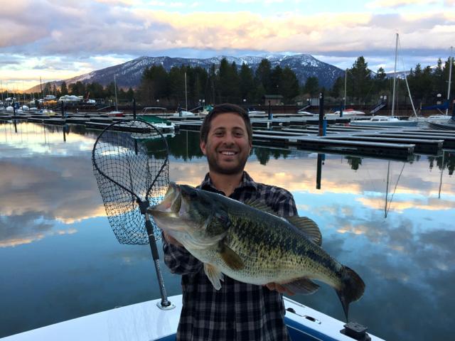 Sizable bass reeled in at lake tahoe lake tahoe newslake for Lake tahoe fishing charters
