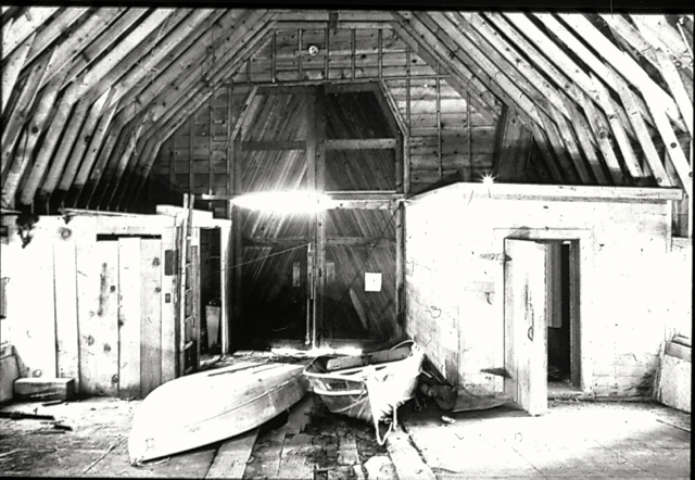 The boathouse was neglected for years before the arts community took over. Photo/USFS