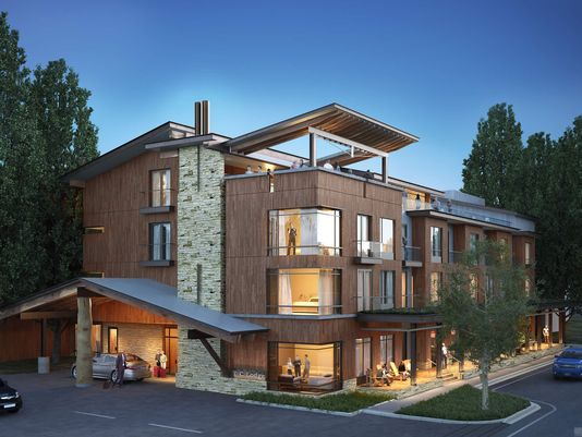 An artist's rendering of the proposed Tahoe City Lodge.