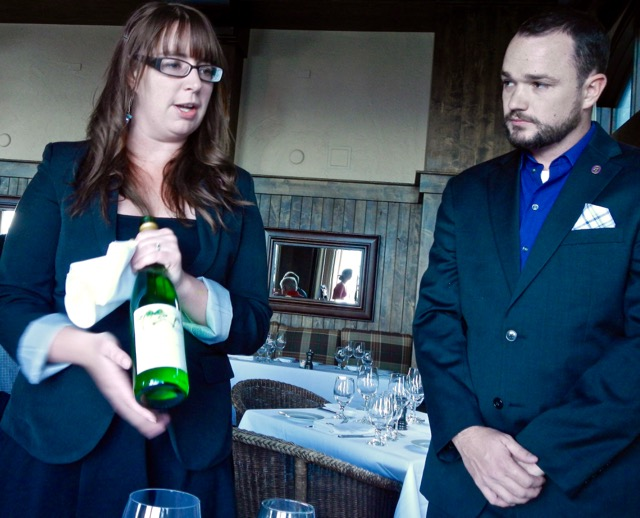 Sommeliers Lisa Small and Rob Dubben