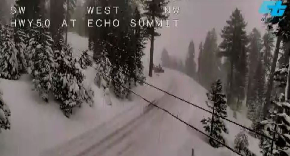 This is Echo Summit on Jan. 10. Photo/Caltrans