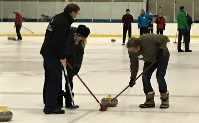 Amateur Tahoe curlers being led by Olympian